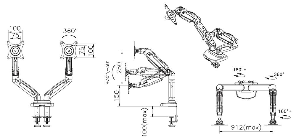Rysunek techniczny uchwytu F160