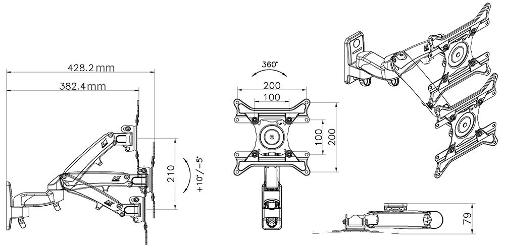 Rysunek techniczny uchwytu F300