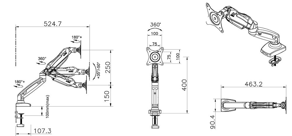 Rysunek techniczny uchwytu F80