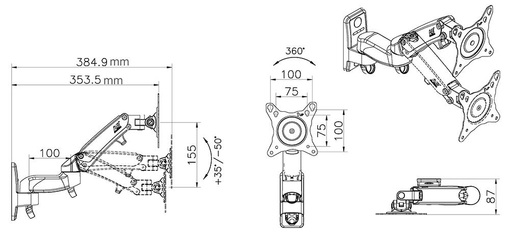 Rysunek techniczny uchwytu F150
