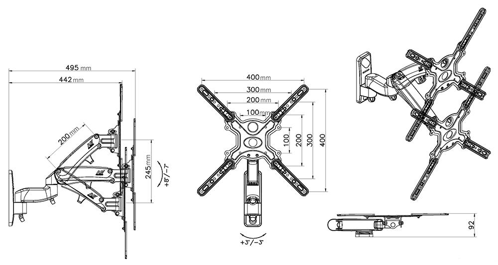 Rysunek techniczny uchwytu F450