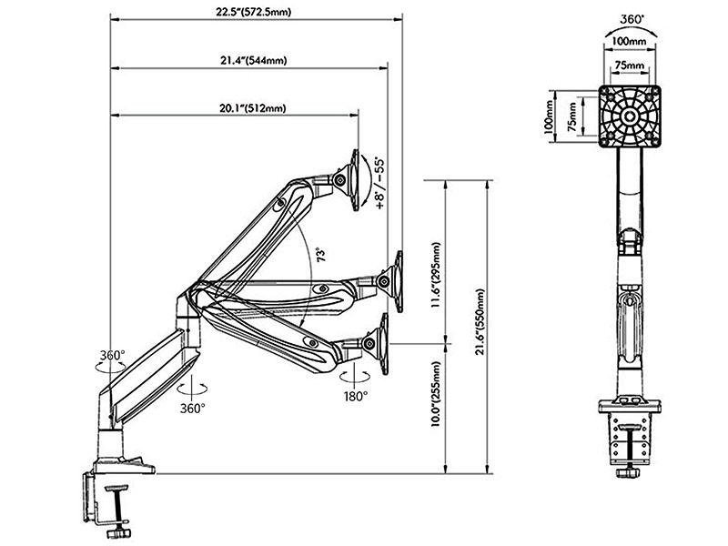 Rysunek techniczny uchwytu F85A